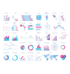 Bundle charts diagrams schemes graphs plots vector