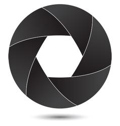 Camera lens shutter vector image