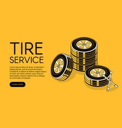Car tire auto service vector