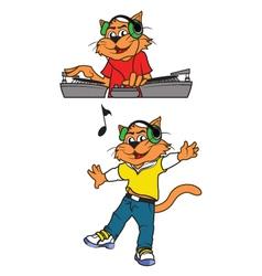 Cat Musician vector