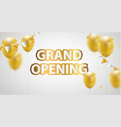 Celebration grand opening banner with gold vector