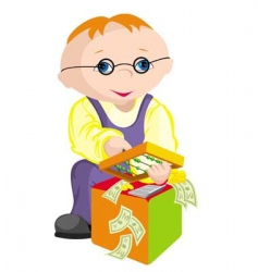 child bookkeeper vector image vector image