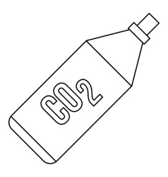 CO2 bottle icon outline style vector