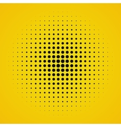 Colored yellow halftone background vector
