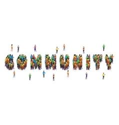 Community Word Form People Design vector image