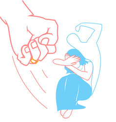 concept of domestic violence vector image