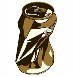 crumpled tin can vector image