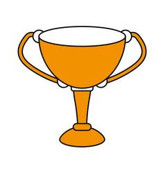 cup trophy design vector image
