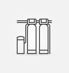 deferrization water station concept line vector image