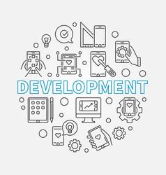 Development round business outline vector
