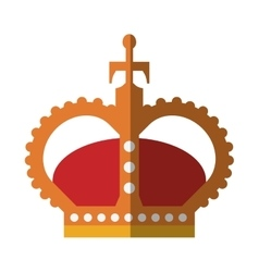 English crown isolated icon vector