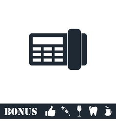 Fax icon flat vector image