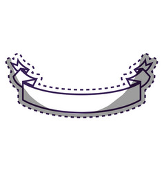 figure ribbon decoration design vector image