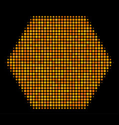 Filled hexagon halftone icon vector