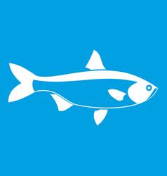 Fish icon white vector