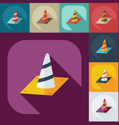 Flat concept set modern design with shadow warning vector
