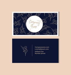 Floral business card template vector