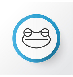 Frog icon symbol premium quality isolated toad vector