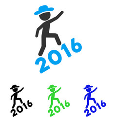 Gentleman climbing 2016 flat icon vector
