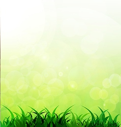 green background with grass vector image