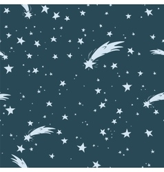 Hand-drawn night sky seamless pattern vector