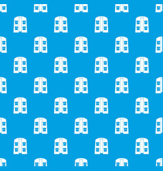 Hunter vest pattern seamless blue vector