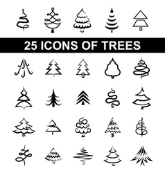 Icons tree vector image