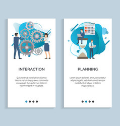 interaction and planning business projects set vector image