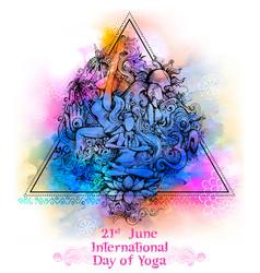 International yoga day on 21st june vector