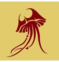 jellyfish icon vector image