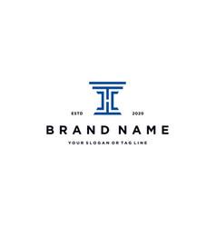 Letter h law logo design vector