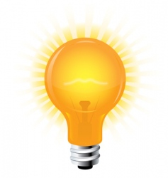 light bulb vector image