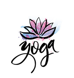 logo for yoga studio or meditation class spa logo vector image