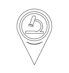 map pointer microscope icon vector image