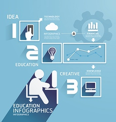 Modern Design Education infographic paper cut vector