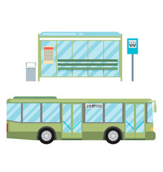 Modern flat design public transport items bus vector