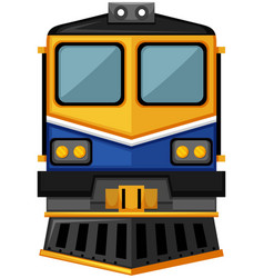 Modern train design on white background vector