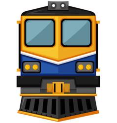 modern train design on white background vector image