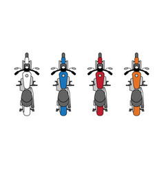 Multi-colored motorcycles vector