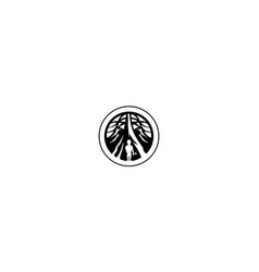 old tree logo icon vector image