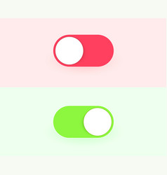on and off toggle switch buttons modern devices vector image