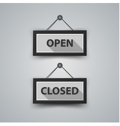 open and closed icon with shadow vector image