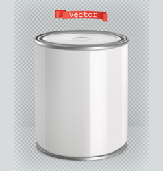 Packaging building and sanitary white tin of vector