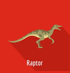 Raptor icon flat style vector