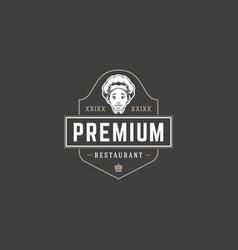 restaurant logo template object vector image
