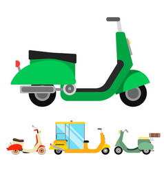 Retro vespa scooter motorcycle travel vector