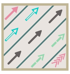 Road arrows set vector