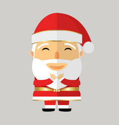 Santa claus in black glasses on grey background vector