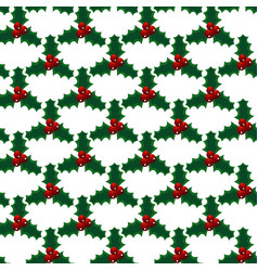seamless christmas mistletoe bright art vector image