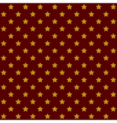 Seamless stars pattern in retro red vector